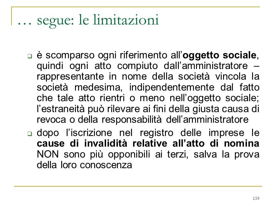 2) rapporto C.d.A./organi delegati (art. 2381 c. 3°)