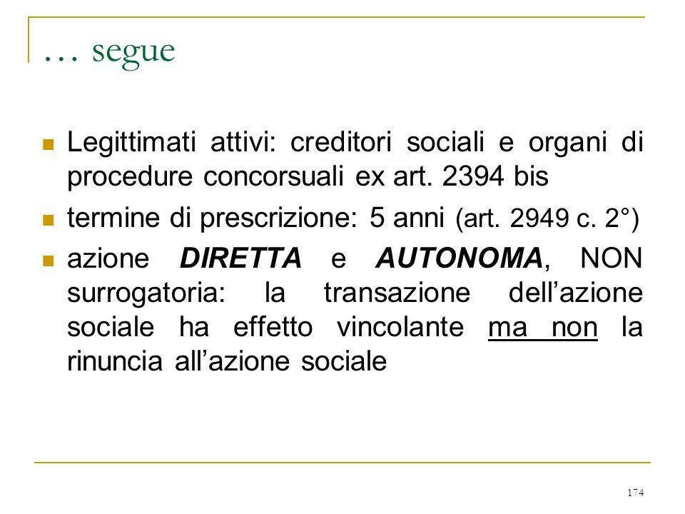 1) VERSO LA SOCIETA' - art. 2393
