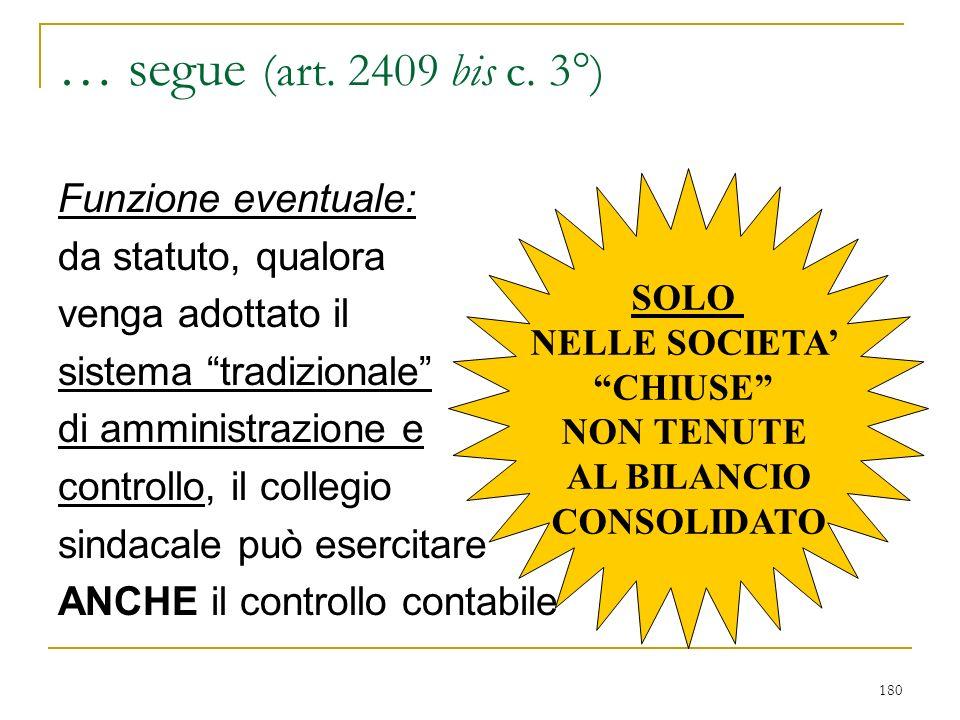 3) VERSO I SOCI E I TERZI - art. 2395