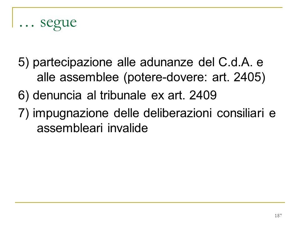 B) composizione del collegio (art. 2397)