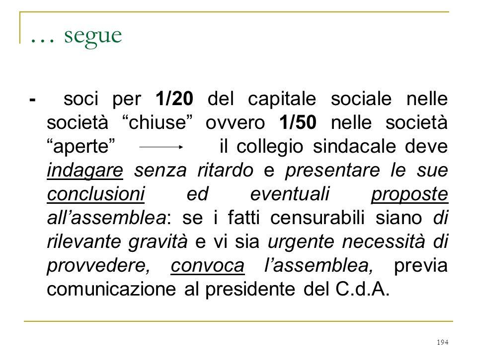 F) responsabilità del collegio sindacale (art. 2407)