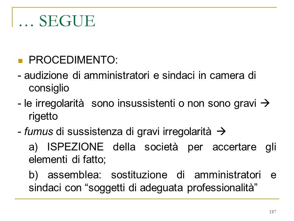 2) SOCI 1) INFORMAZIONE IN ASSEMBLEA 2) ISPEZIONE DEI LIBRI SOCIALI