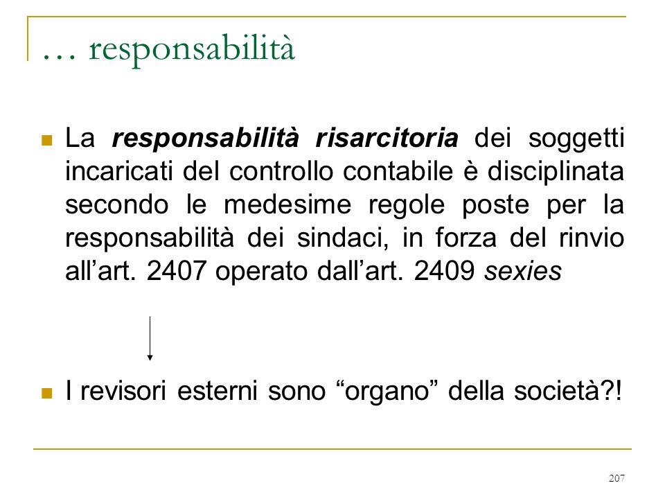 4) REVISORI CONTABILI ESTERNI (artt. 2409 bis e ss.)