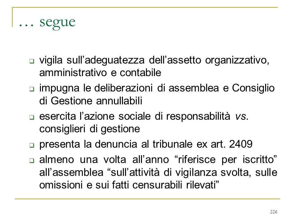 IL CONSIGLIO DI SORVEGLIANZA (art. 2409 duodecies)