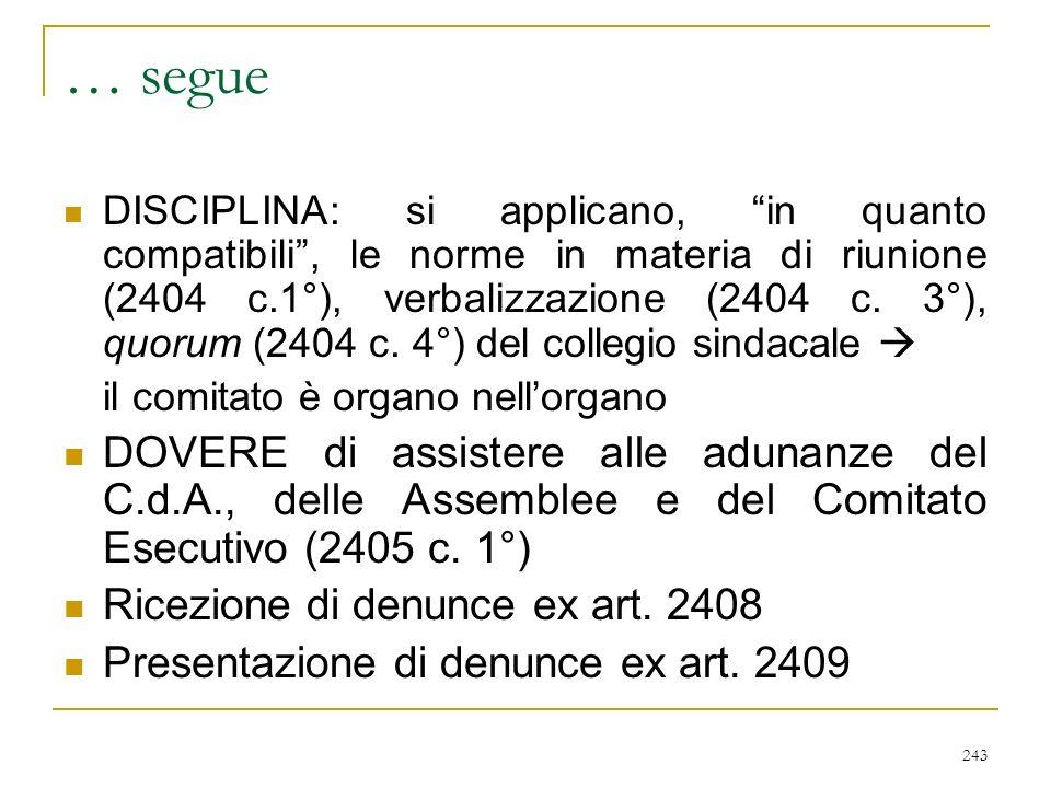 CONSIGLIO DI AMMINISTRAZIONE (art. 2409 septiesdecies)
