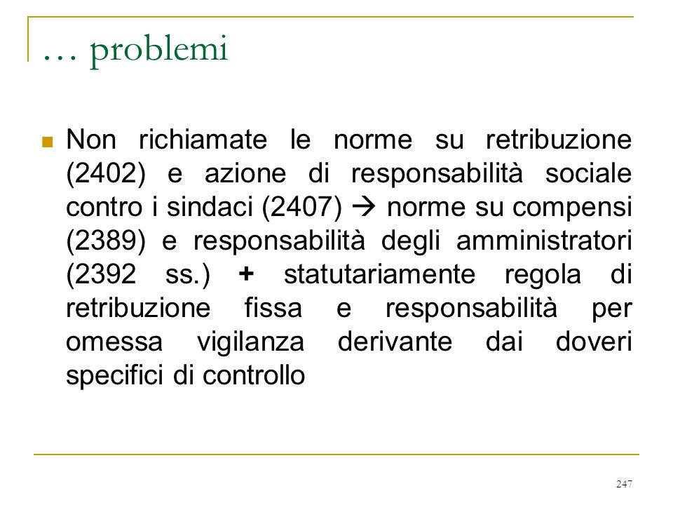 COMITATO PER IL CONTROLLO SULLA GESTIONE (art. 2409 octiesdecies)