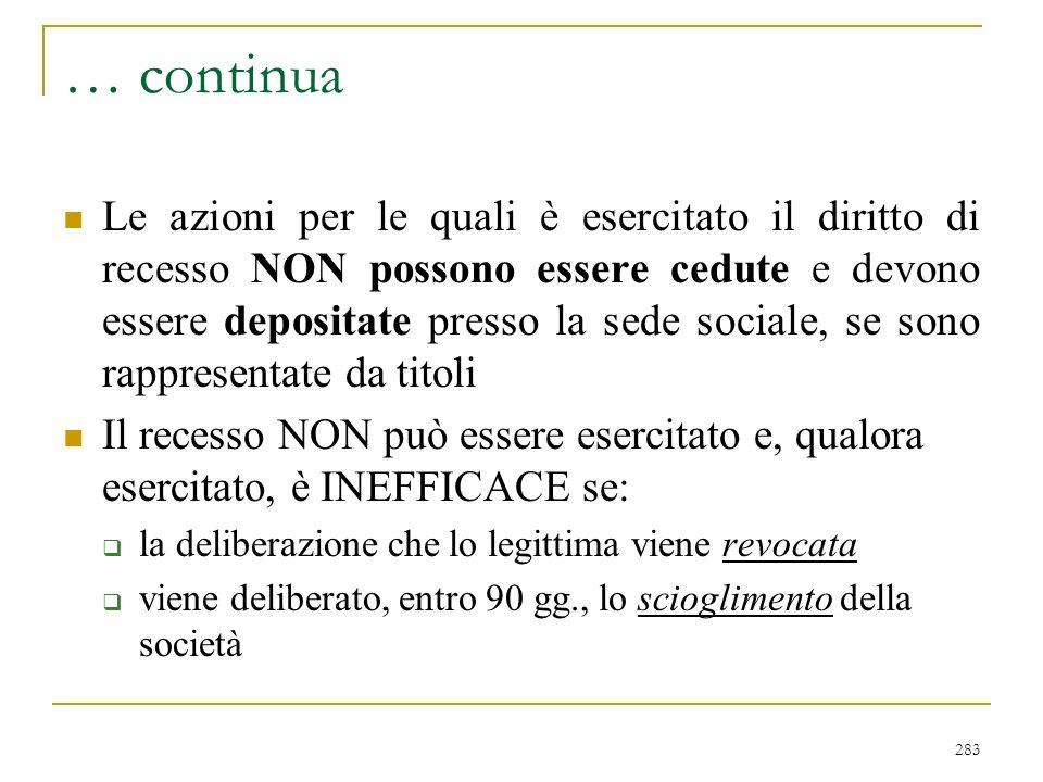 … segue Alle ipotesi elencate si aggiunge quanto previsto al comma 3° della norma in esame: