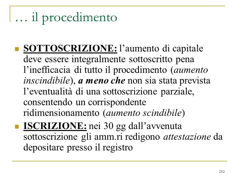 procedimento di liquidazione (2437 quater)