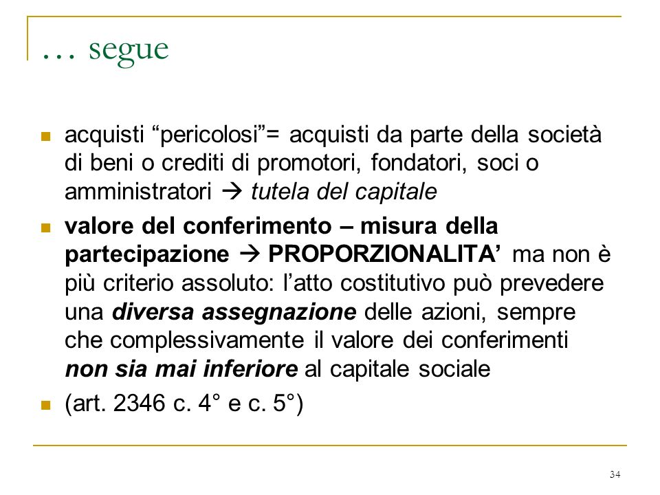… patti parasociali sia per la società di cui si persegue la stabilizzazione. sia per la società controllante.