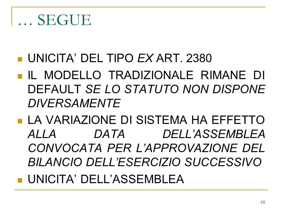 6) SOTTOSCRIZIONE DI AZIONI / QUOTE DELLA CONTROLLANTE (art