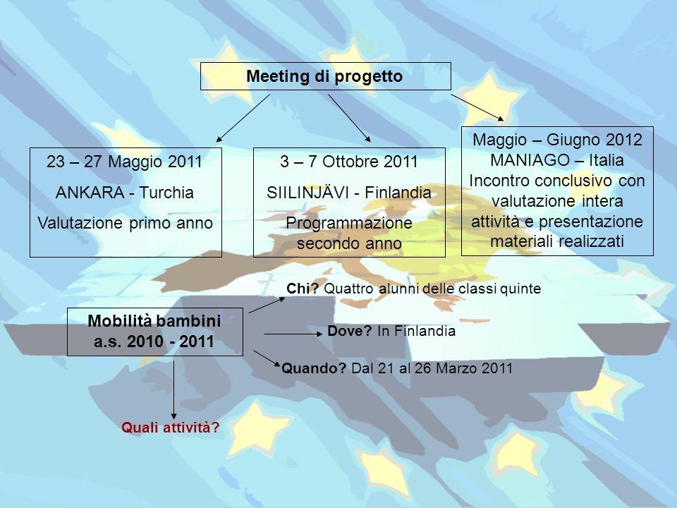 Meeting di progetto Mobilità bambini a.s. 2010 - 2011