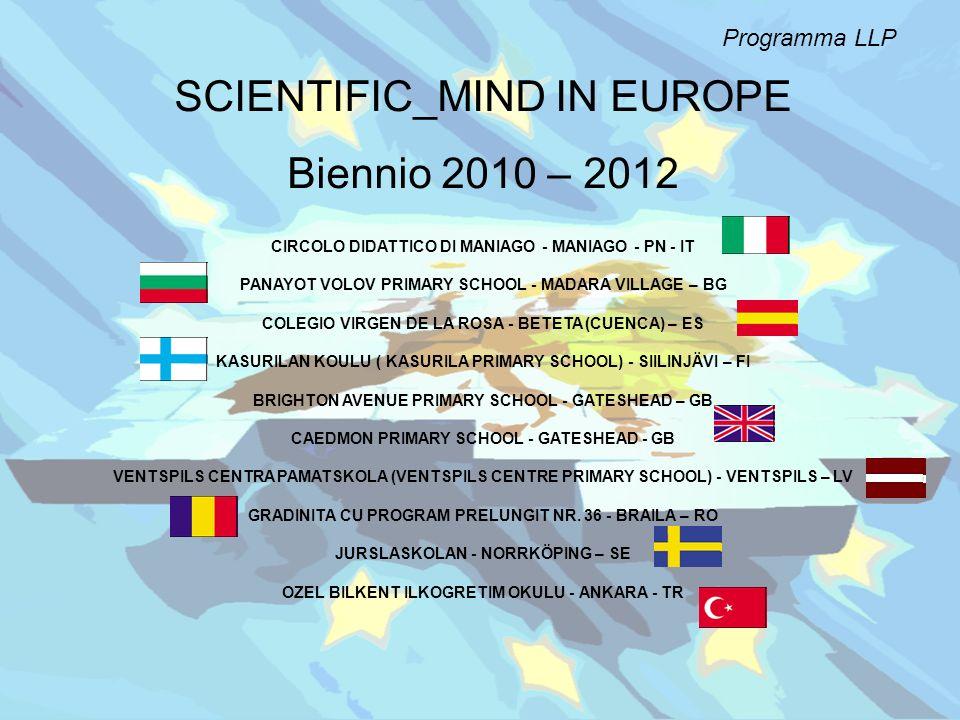 SCIENTIFIC_MIND IN EUROPE Biennio 2010 – 2012