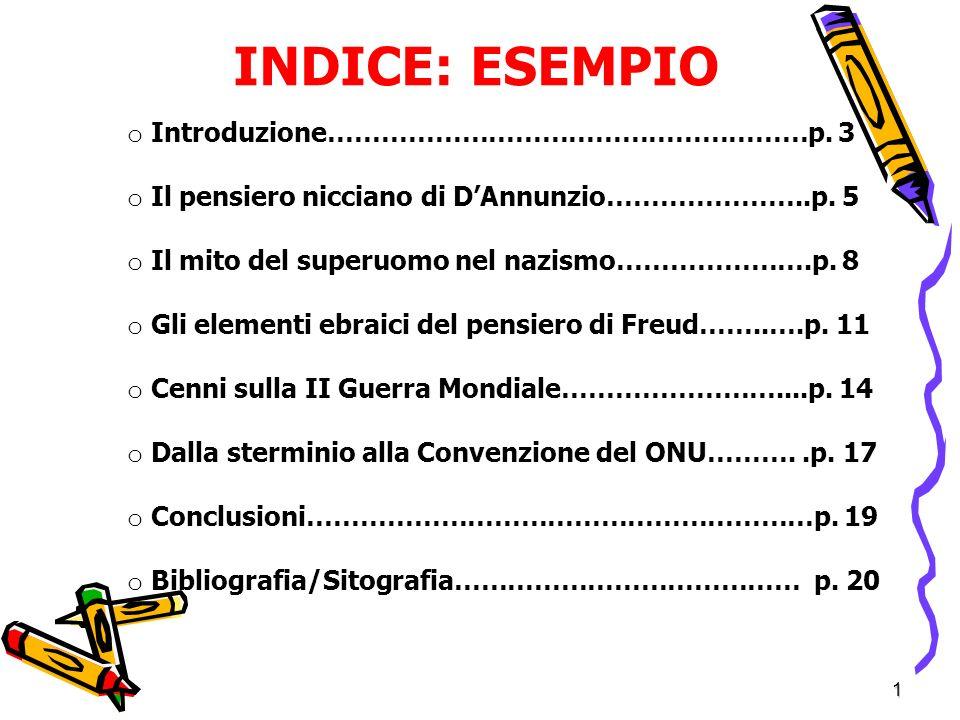 INDICE: ESEMPIO Introduzione………………………………………………p. 3