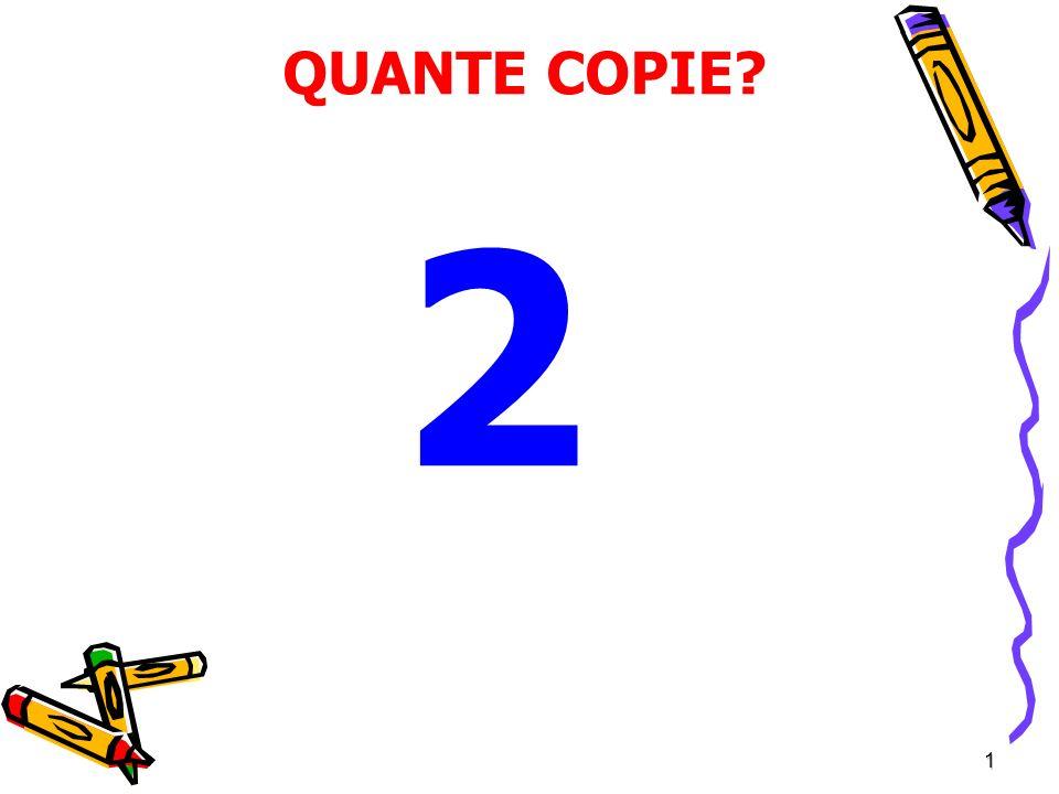 QUANTE COPIE 2 1