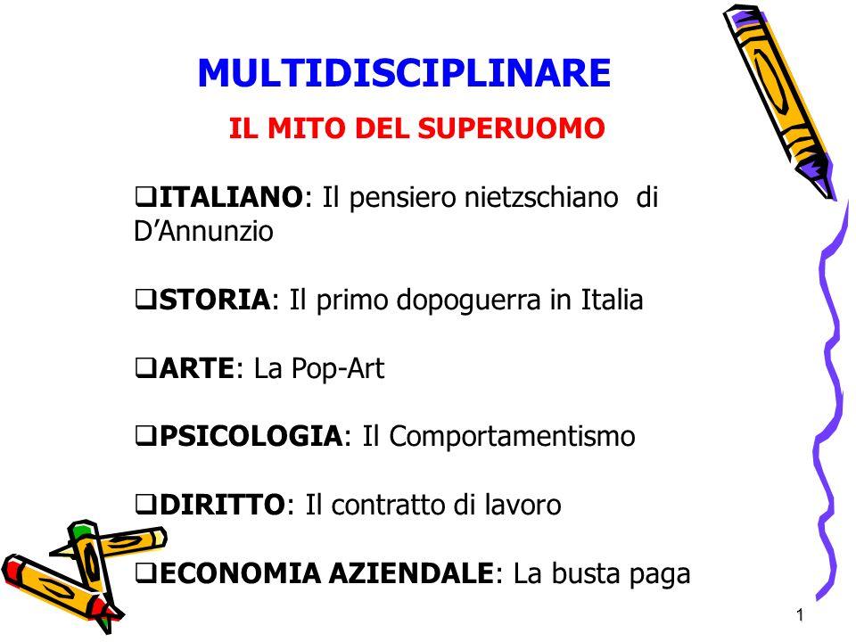 MULTIDISCIPLINARE IL MITO DEL SUPERUOMO