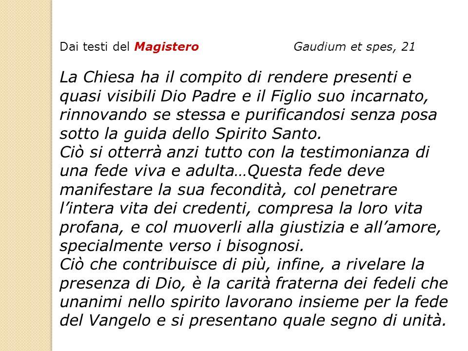 Dai testi del Magistero Gaudium et spes, 21