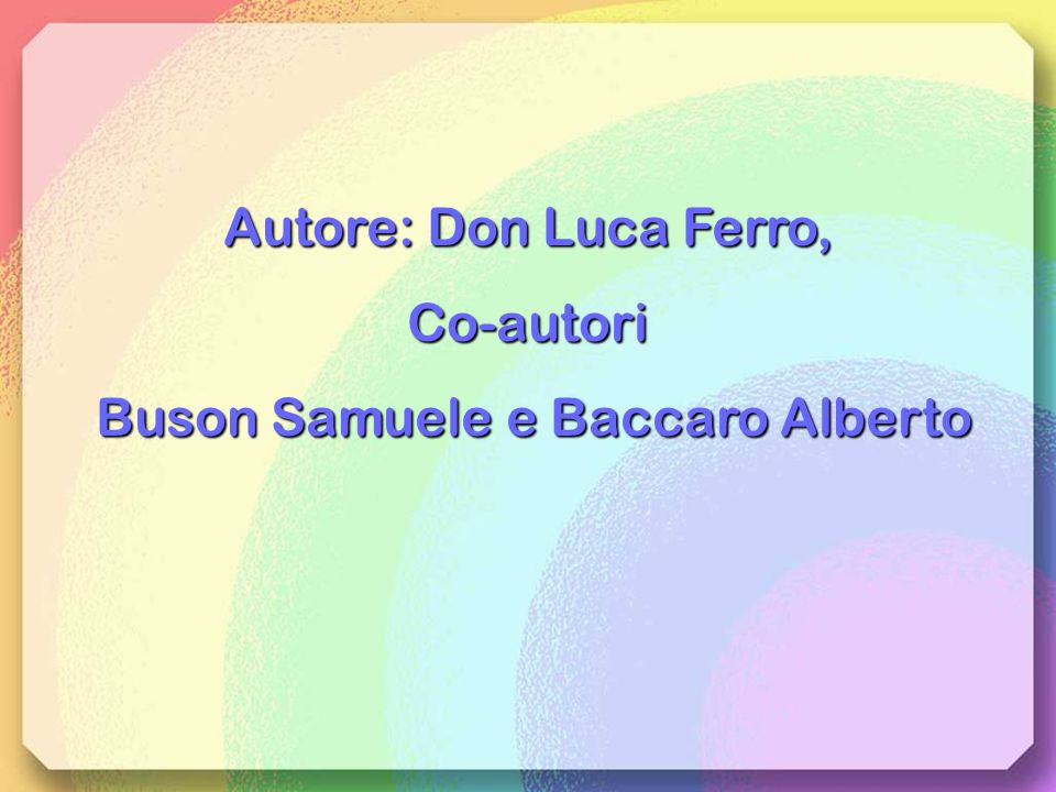 Buson Samuele e Baccaro Alberto