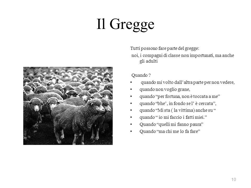 Il Gregge Tutti possono fare parte del gregge:
