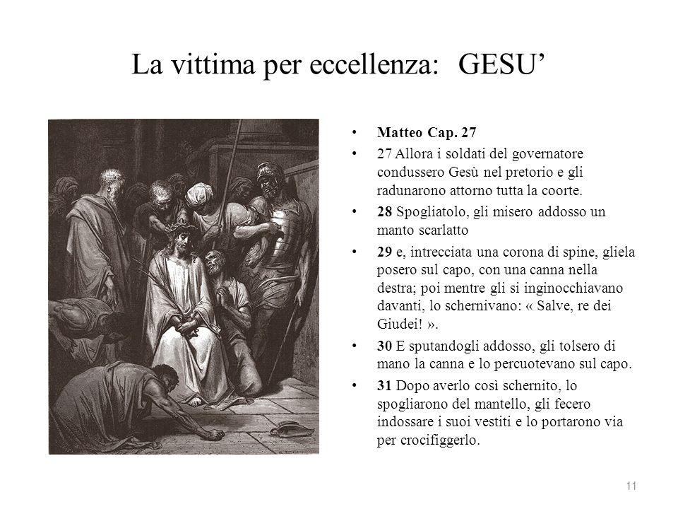 La vittima per eccellenza: GESU'