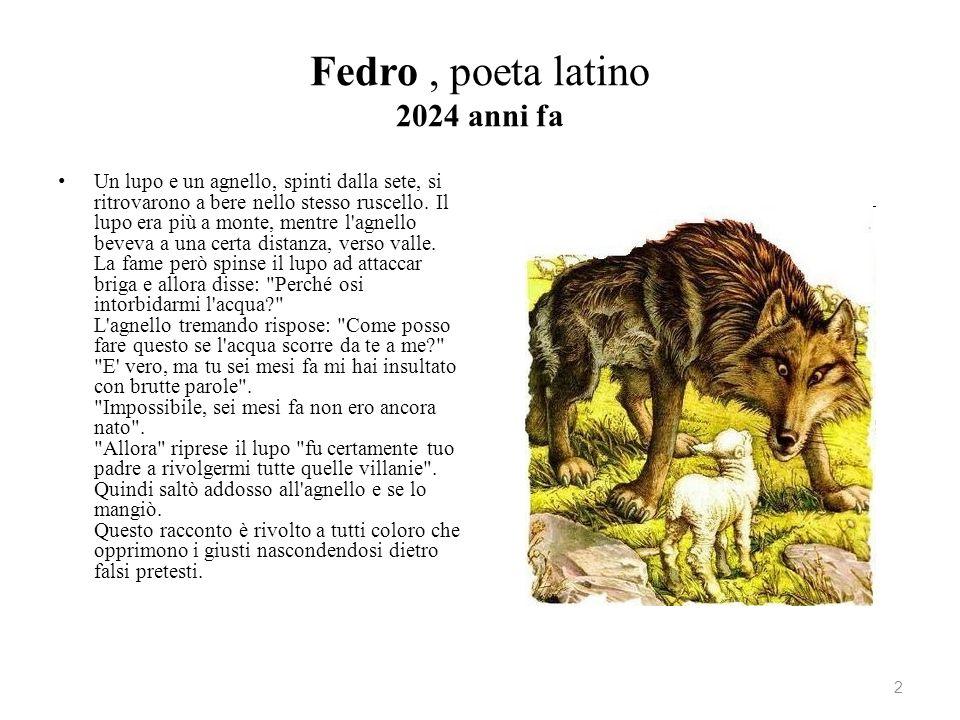 Fedro , poeta latino 2024 anni fa