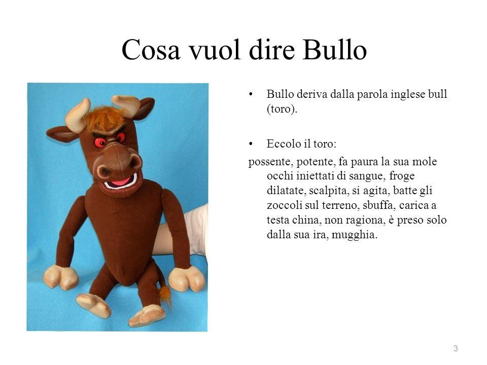 Cosa vuol dire Bullo Bullo deriva dalla parola inglese bull (toro).