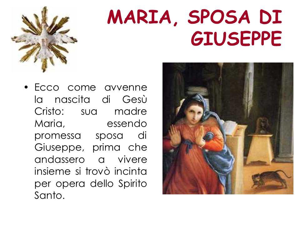 MARIA, SPOSA DI GIUSEPPE