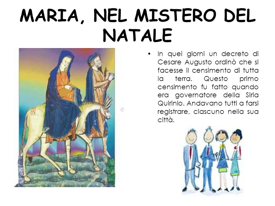 MARIA, NEL MISTERO DEL NATALE
