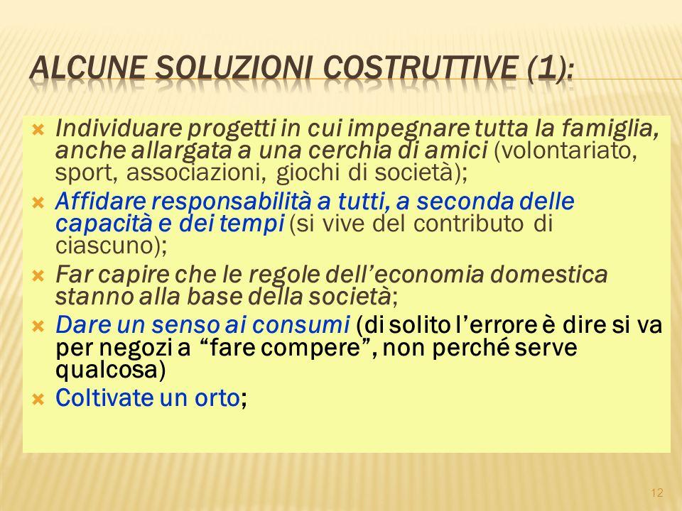 Alcune soluzioni costruttive (1):