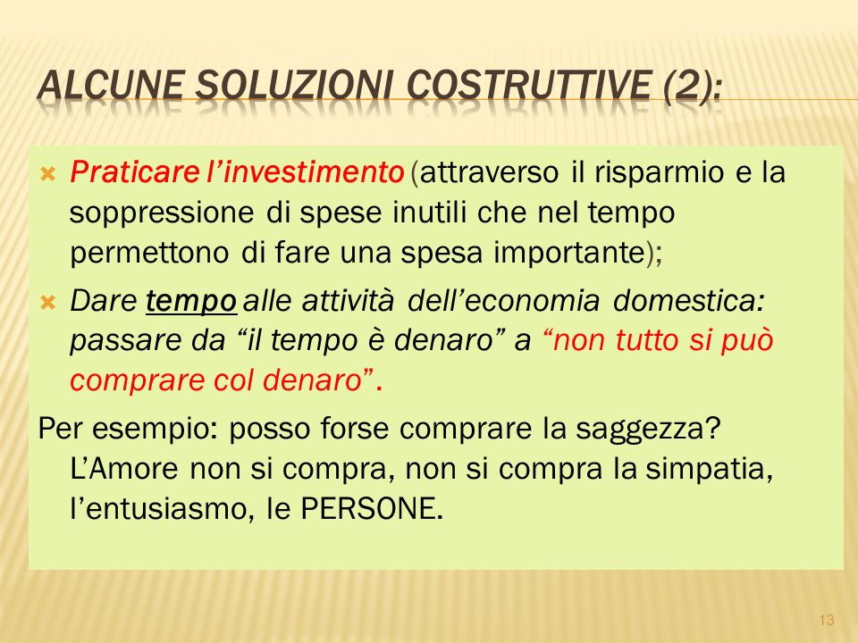 Alcune soluzioni costruttive (2):