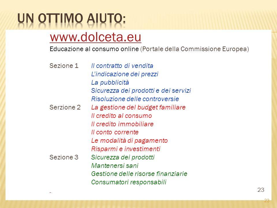 Un ottimo aiuto: www.dolceta.eu
