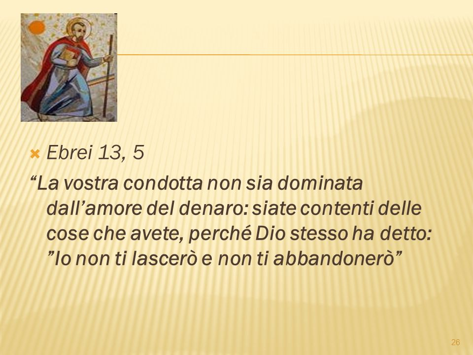 Ebrei 13, 5