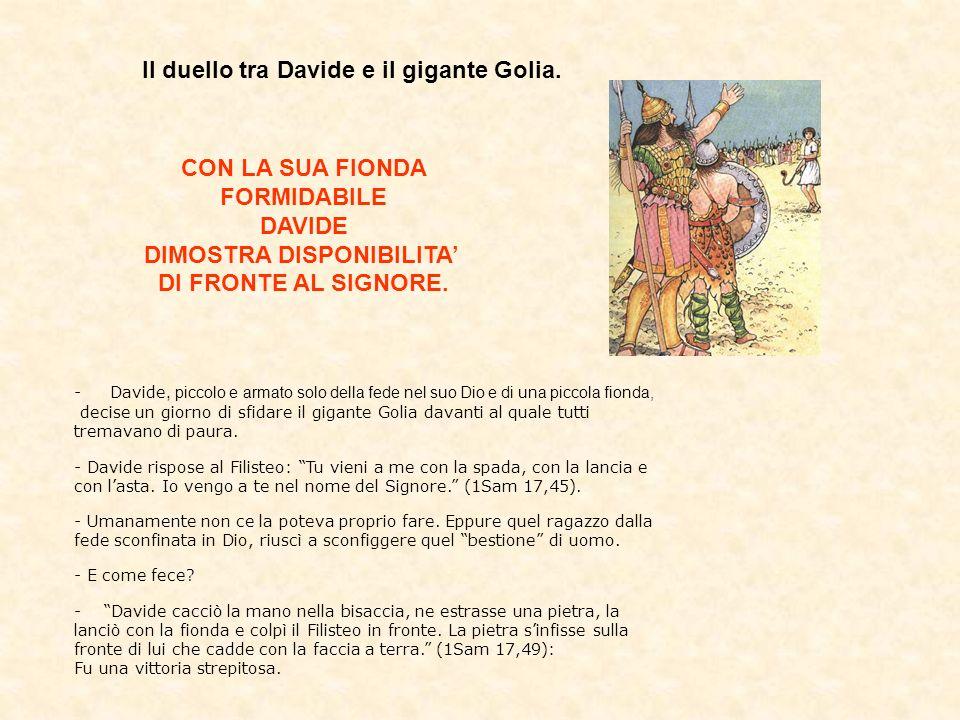 DIMOSTRA DISPONIBILITA'