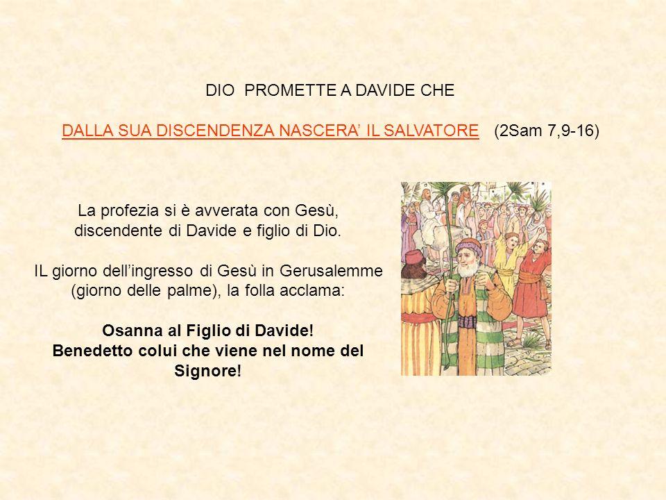 DIO PROMETTE A DAVIDE CHE