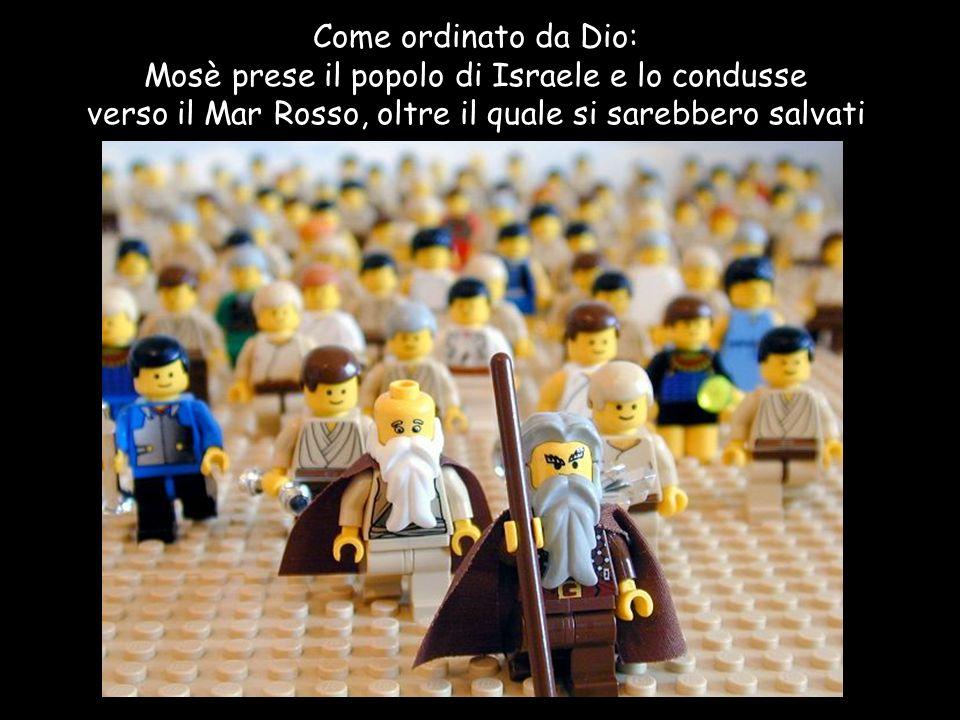 Mosè prese il popolo di Israele e lo condusse