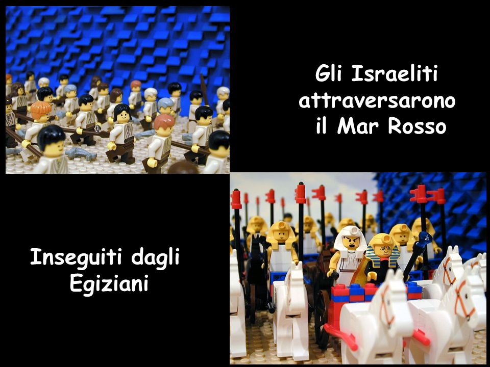 Gli Israeliti attraversarono il Mar Rosso Inseguiti dagli Egiziani