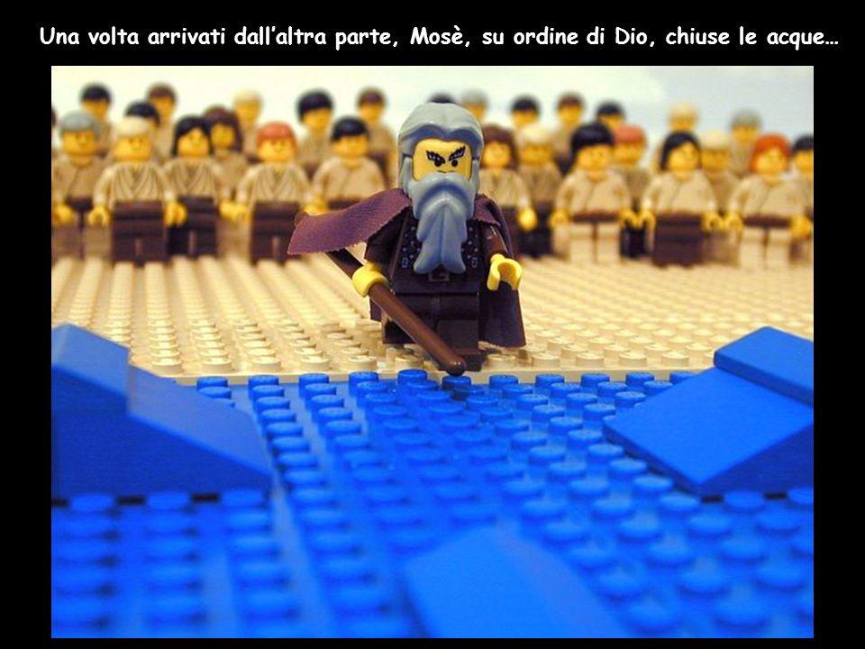 Una volta arrivati dall'altra parte, Mosè, su ordine di Dio, chiuse le acque…