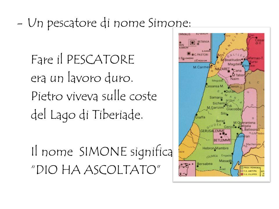 Un pescatore di nome Simone: