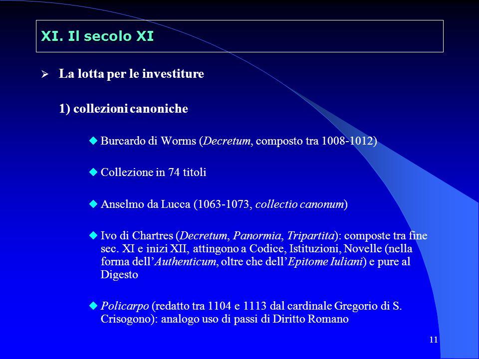 La lotta per le investiture 1) collezioni canoniche