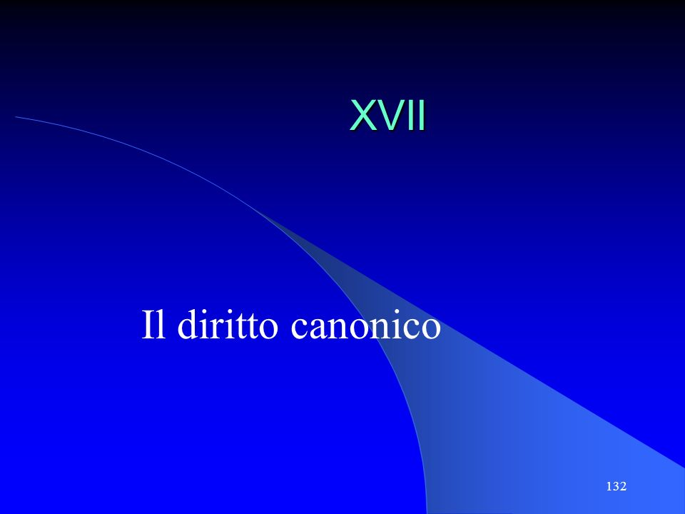 XVII Il diritto canonico