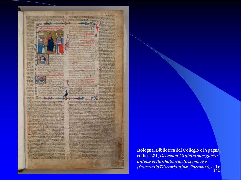 Bologna, Biblioteca del Collegio di Spagna, codice 281, Decretum Gratiani cum glossa ordinaria Bartholomaei Brixieniensis (Concordia Discordantium Canonum), c.