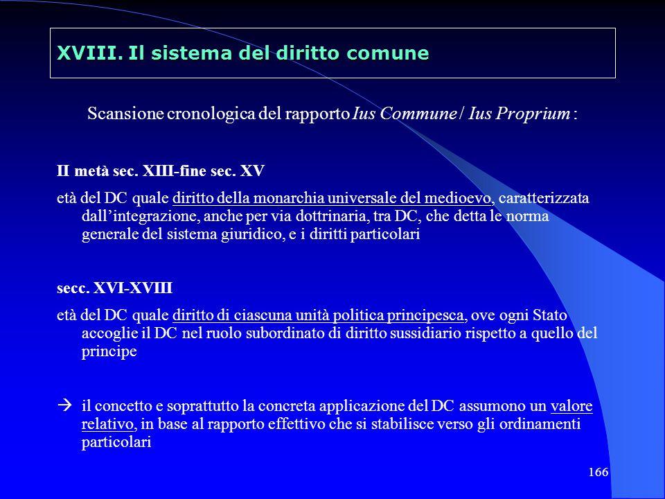 XVIII. Il sistema del diritto comune
