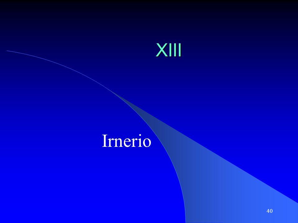 XIII Irnerio
