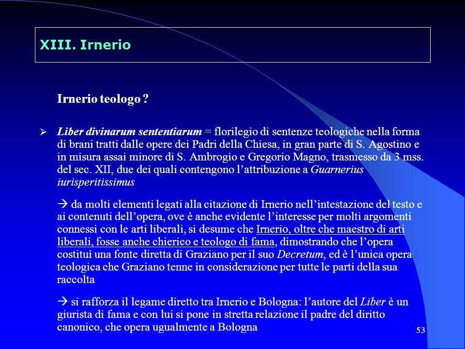 XIII. Irnerio Irnerio teologo