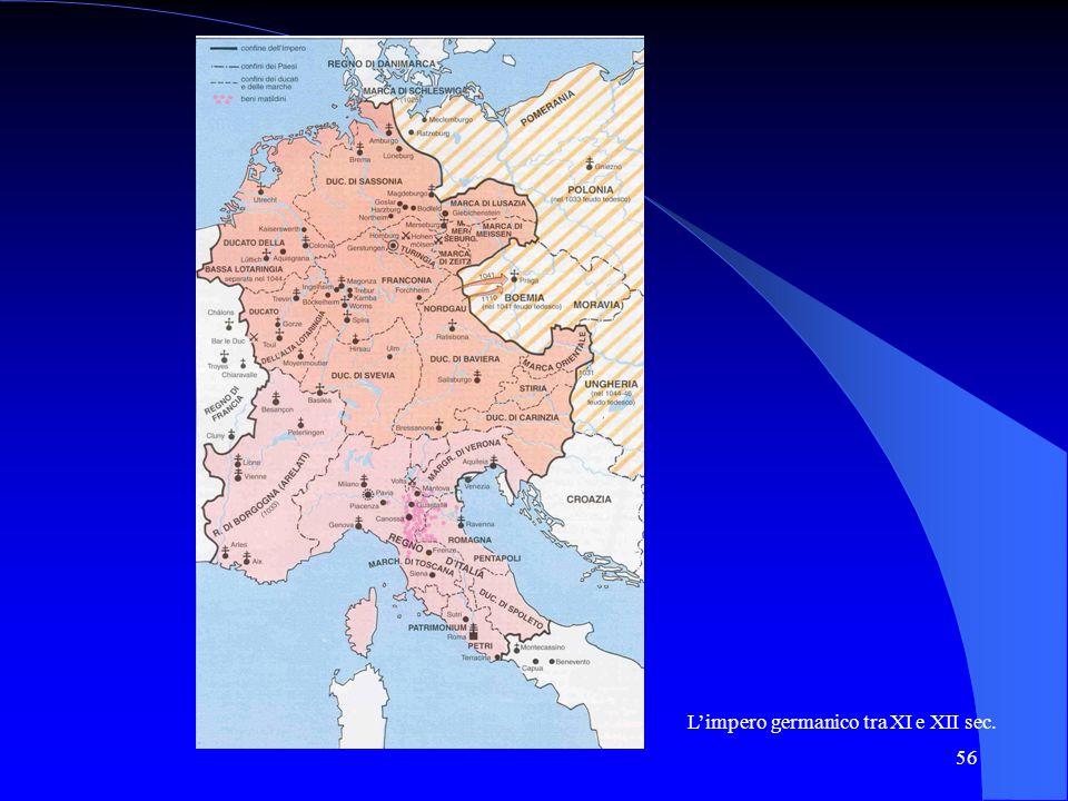 L'impero germanico tra XI e XII sec.