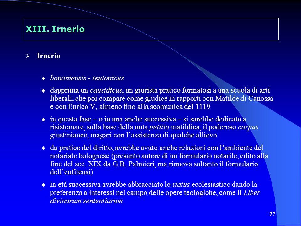 XIII. Irnerio Irnerio bononiensis - teutonicus