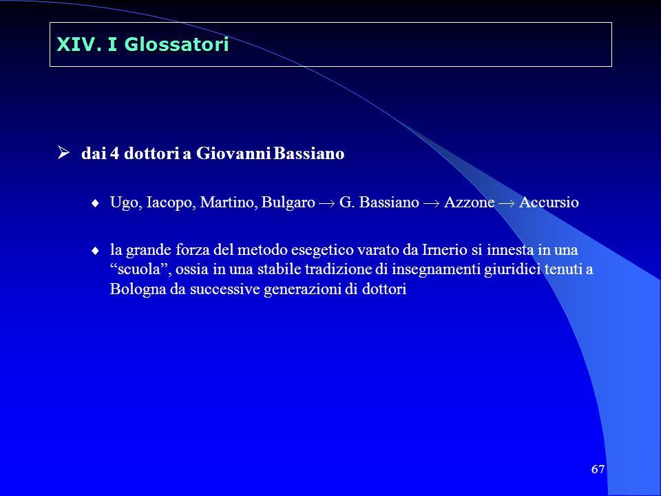 dai 4 dottori a Giovanni Bassiano