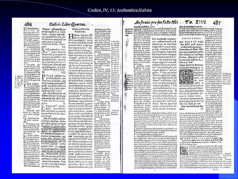 Codice, IV, 13: Authentica Habita