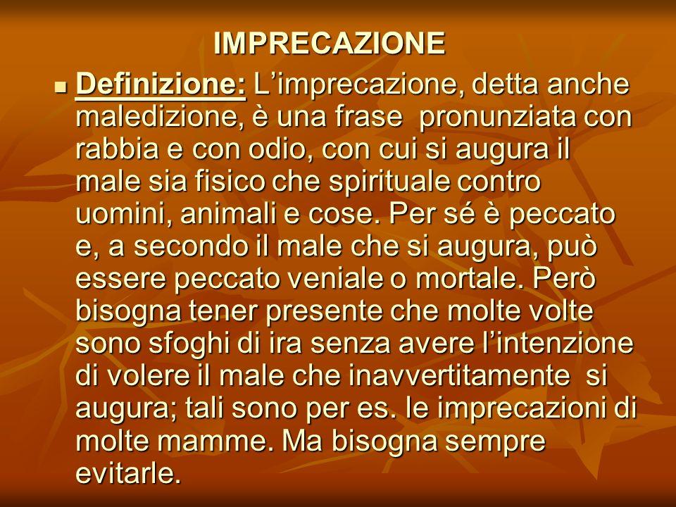 IMPRECAZIONE