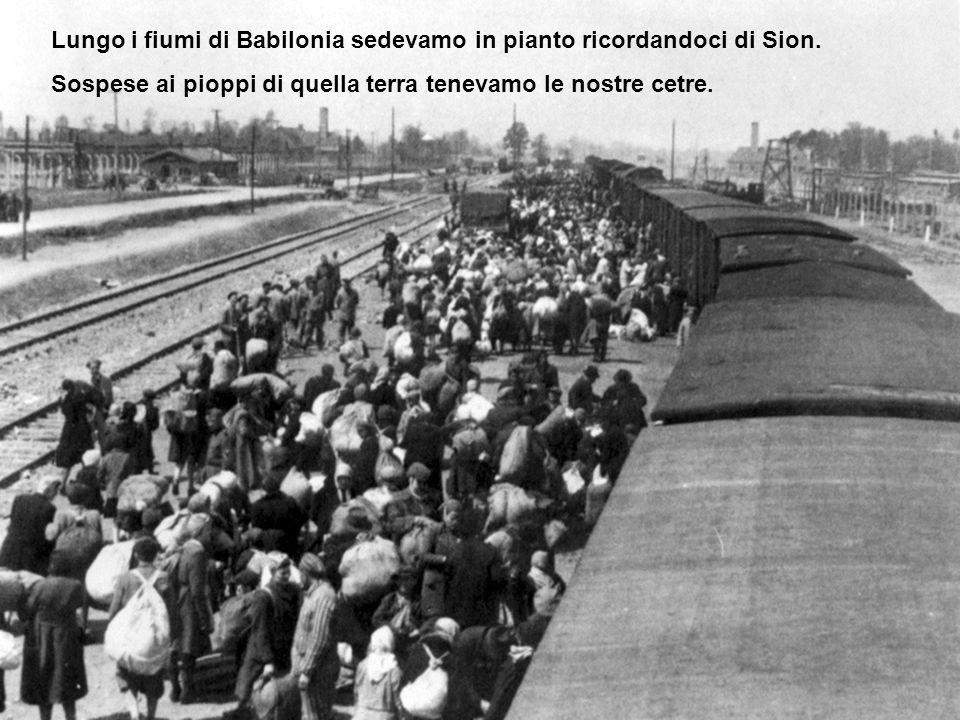 Lungo i fiumi di Babilonia sedevamo in pianto ricordandoci di Sion.