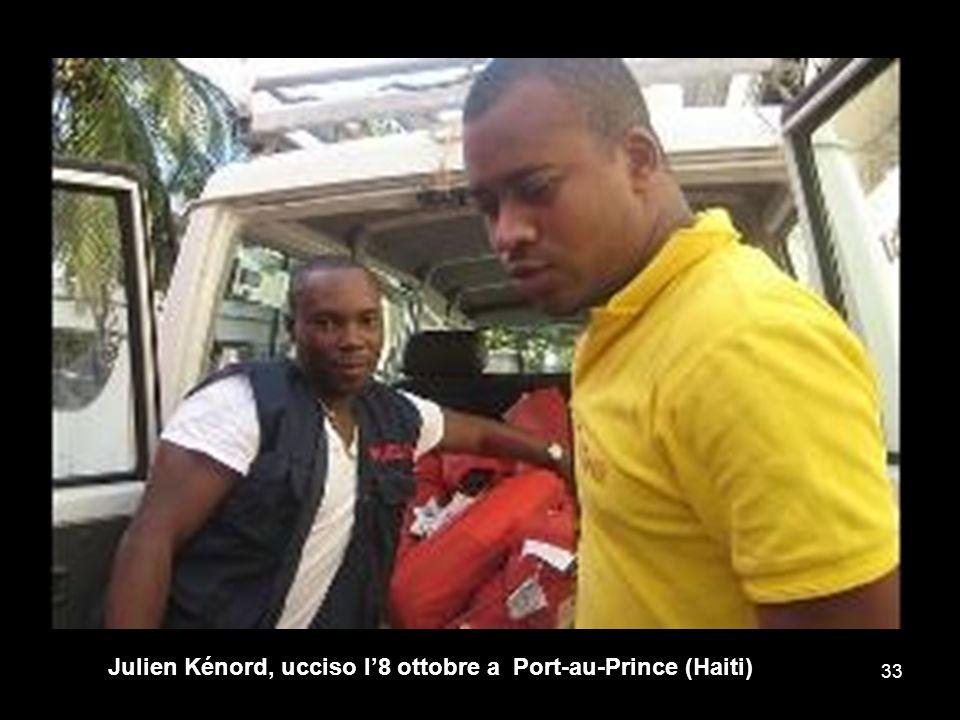 Julien Kénord, ucciso l'8 ottobre a Port-au-Prince (Haiti)